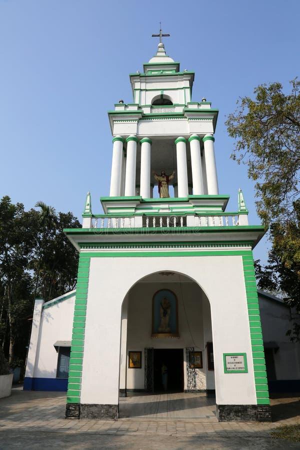 Die katholische Kirche in Kumrokhali, Westbengalen, Indien stockbilder