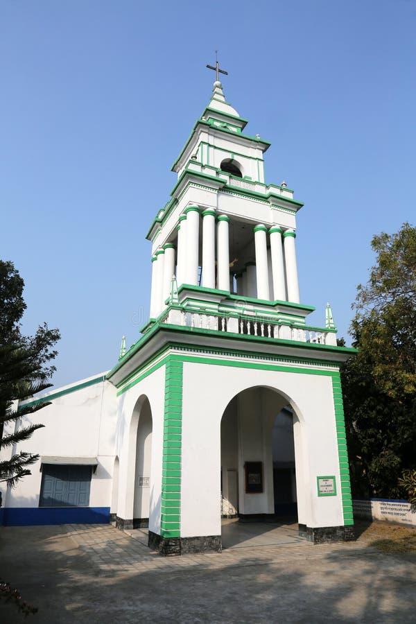 Die katholische Kirche in Kumrokhali, Westbengalen, Indien stockfoto