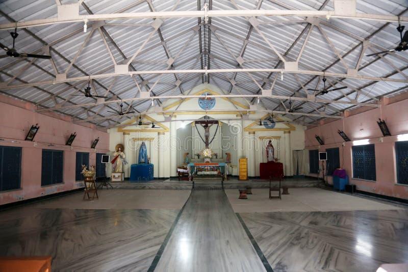 Die katholische Kirche in Kumrokhali, Westbengalen, Indien stockfotos