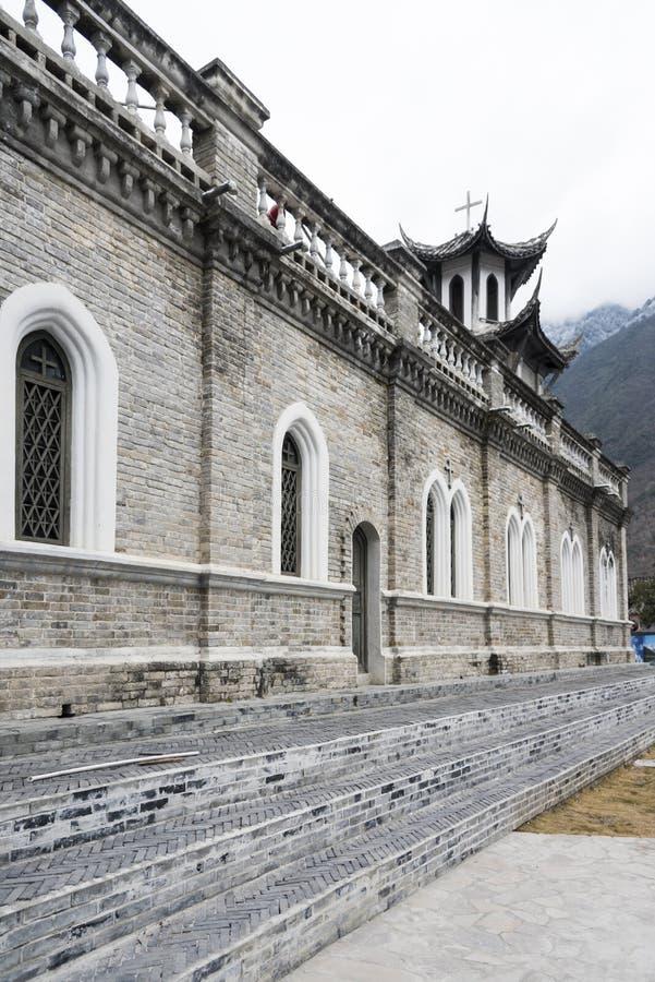 Die katholische Kirche Moxi stockfoto