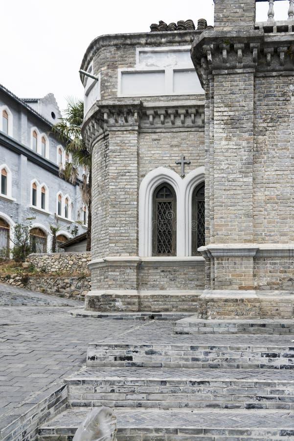 Die katholische Kirche Moxi lizenzfreies stockfoto