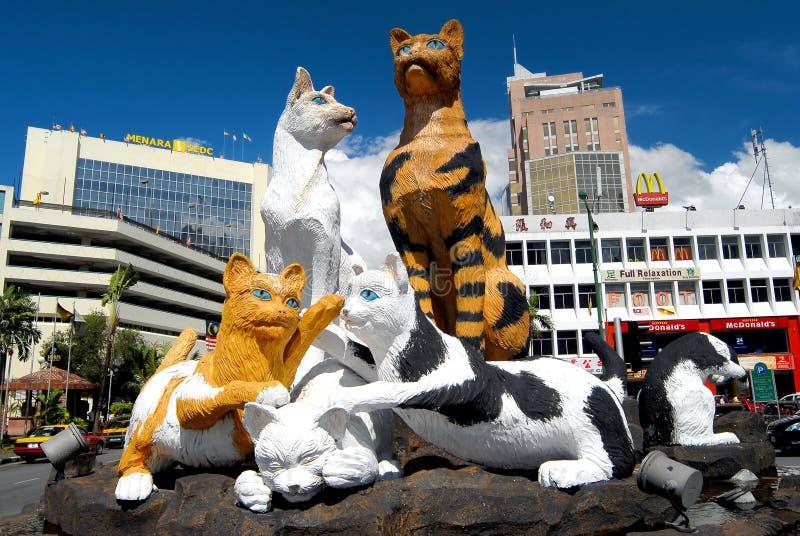 Die Katze-Statue stockfoto