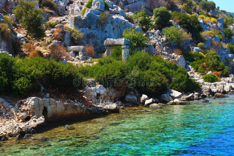 Die Kekova-Insel lizenzfreies stockfoto