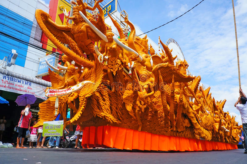 Die Kerze Festival schnitzend lizenzfreies stockfoto