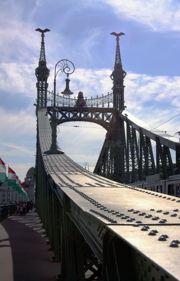 Die Ketten-Brücke in Budapest lizenzfreies stockfoto
