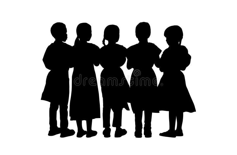 Die kinder die schattenbilder stehen stellten 9 ein - Schattenbilder kinder ...