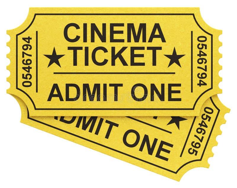 Die Kinokarten stock abbildung