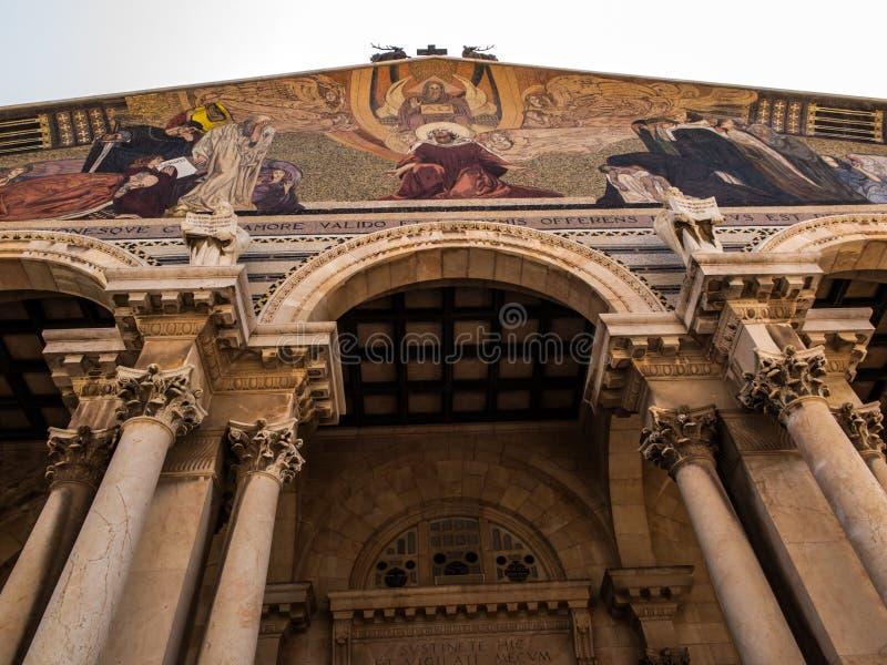 Die Kirche aller Nationen alias die Basilika des Agon lizenzfreie stockfotos
