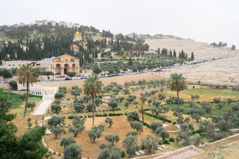 Die Kirche aller Nationen auf Olive Mountain in Jerusalem stockfotos