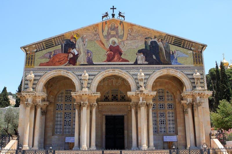 Die Kirche aller Nationen, Jerusalem stockfotos