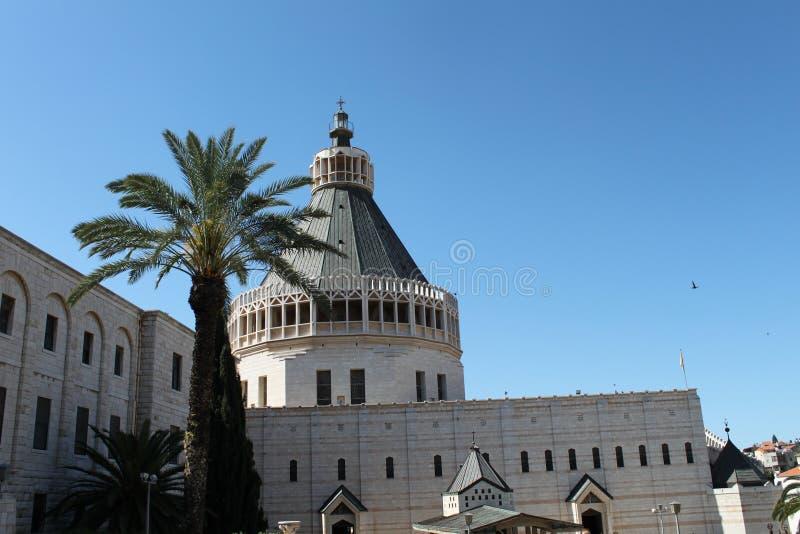 Die Kirche der Ankündigung, Nazaret, Israel lizenzfreies stockbild