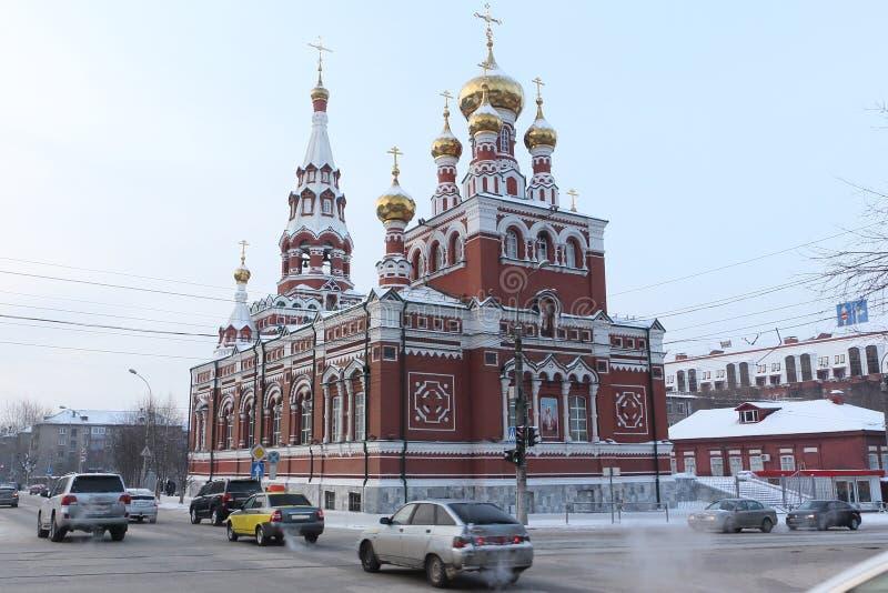 Die Kirche der Besteigung, Dauerwelle, Russland lizenzfreies stockbild