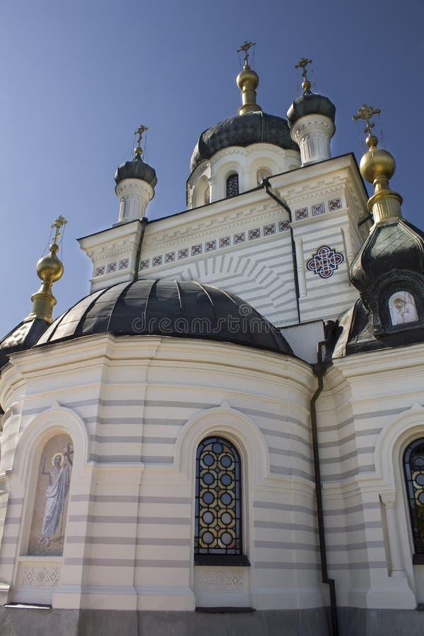 Die Kirche der Besteigung in den foros in der Krim stockfoto