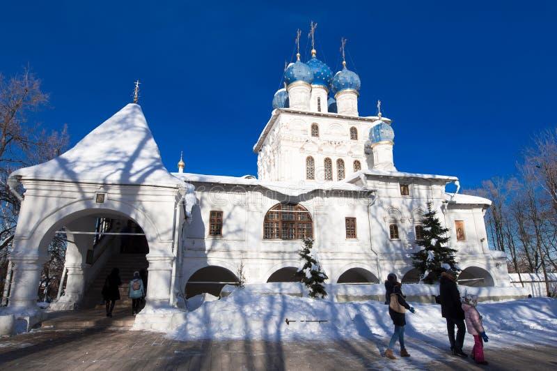 Die Kirche der Ikone unserer Dame von Kasan, Moskau lizenzfreies stockbild