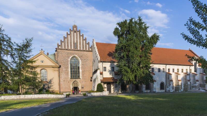 Die Kirche des Heiligen Franziskus von Assisi in Krakau stockfoto