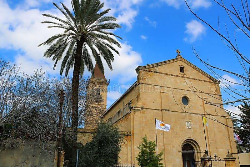 Die Kirche des heiligen Kreuzes, R?misch-katholische Kirche, Nikosia, Zypern stockbild