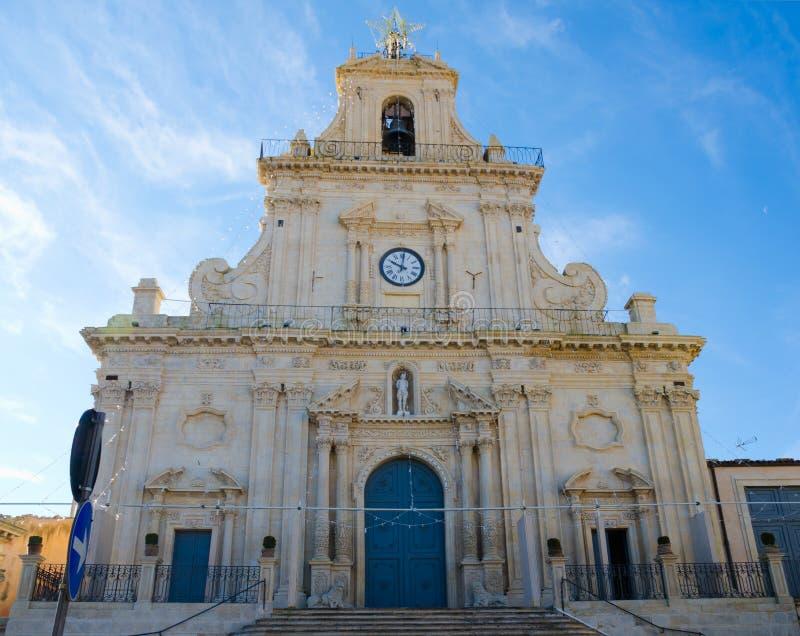 Die Kirche des Heiligen Sebastian, Palazzolo Acreide stockfotos