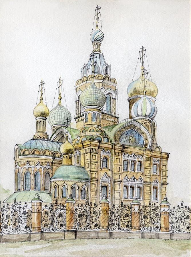 Die Kirche des Retters stock abbildung