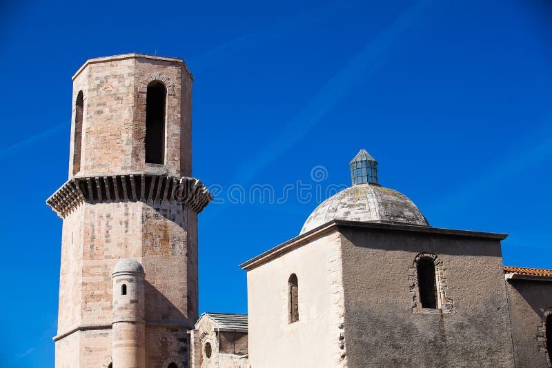 Die Kirche in Marseille stockbilder