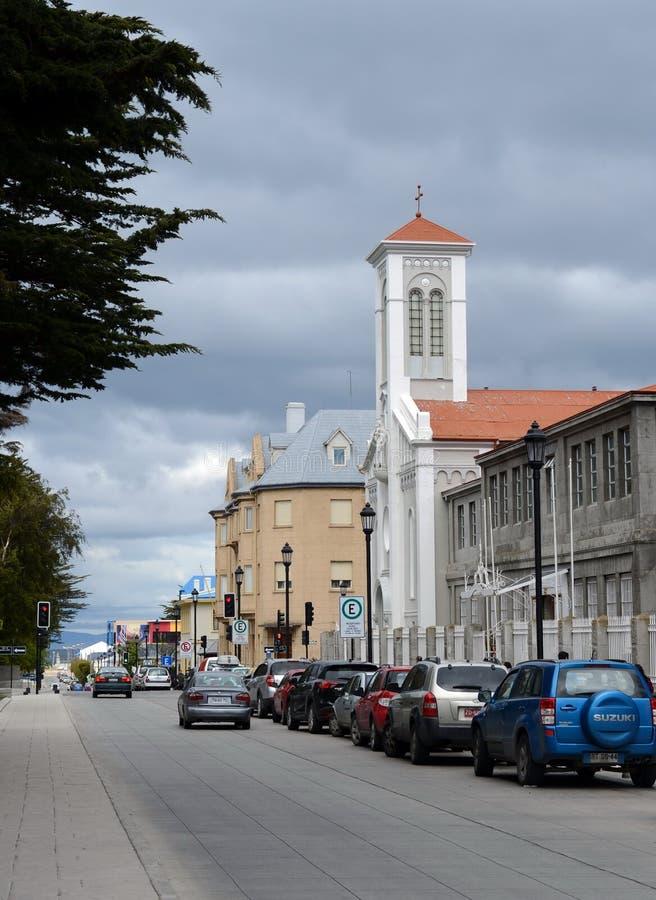 Die Kirche in Punta Arenas stockbilder