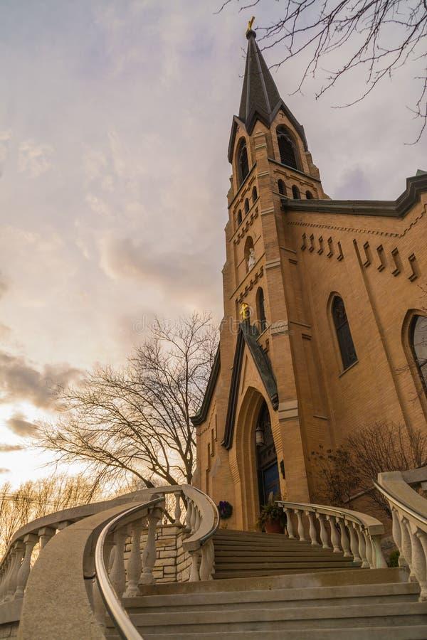 Die Kirche St.-Valentinsgrußes stockbild