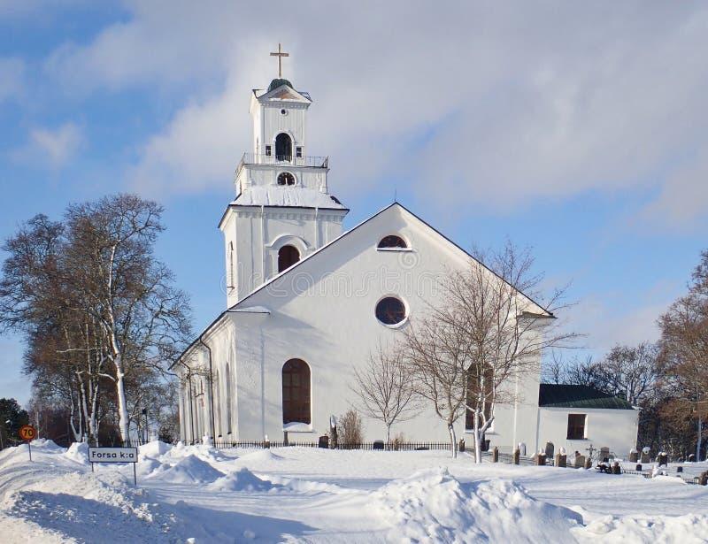 Die Kirche von Forsa - Hudiksvall lizenzfreies stockbild