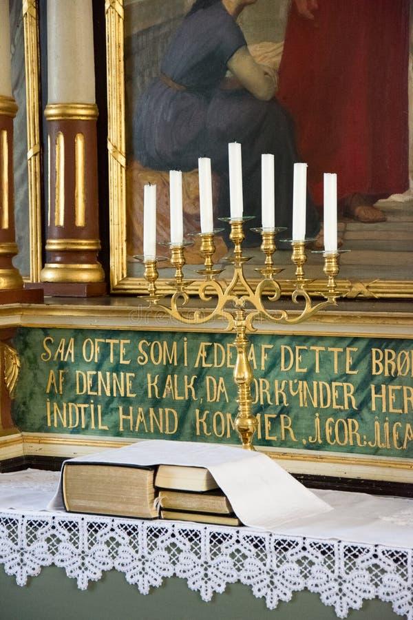 Die Kirche von Helnas stockbild
