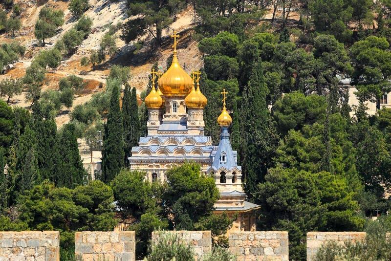 Die Kirche von Mary Magdalene in Jerusalem, Israel. lizenzfreies stockbild