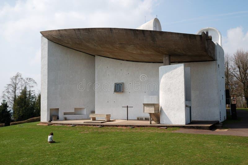 Die Kirche von Notre Dame du Haut, Ronchamp lizenzfreies stockbild