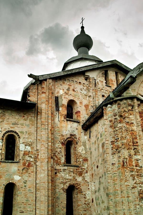 Die Kirche von Paraskeva Pyatnitsa Veliky Novgorod lizenzfreie stockbilder