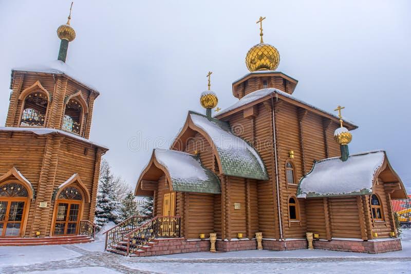 Die Kirche von Prinzen Vladimir, Gleichgestelltes zum österreichischen Tabelle - eine orthodoxe Kirche im sowjetischen Bezirk von lizenzfreies stockbild