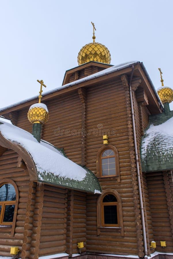 Die Kirche von Prinzen Vladimir, Gleichgestelltes zum ?sterreichischen Tabelle - eine orthodoxe Kirche im sowjetischen Bezirk von stockbilder