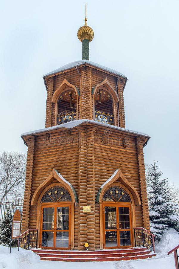 Die Kirche von Prinzen Vladimir, Gleichgestelltes zum ?sterreichischen Tabelle - eine orthodoxe Kirche im sowjetischen Bezirk von lizenzfreies stockbild