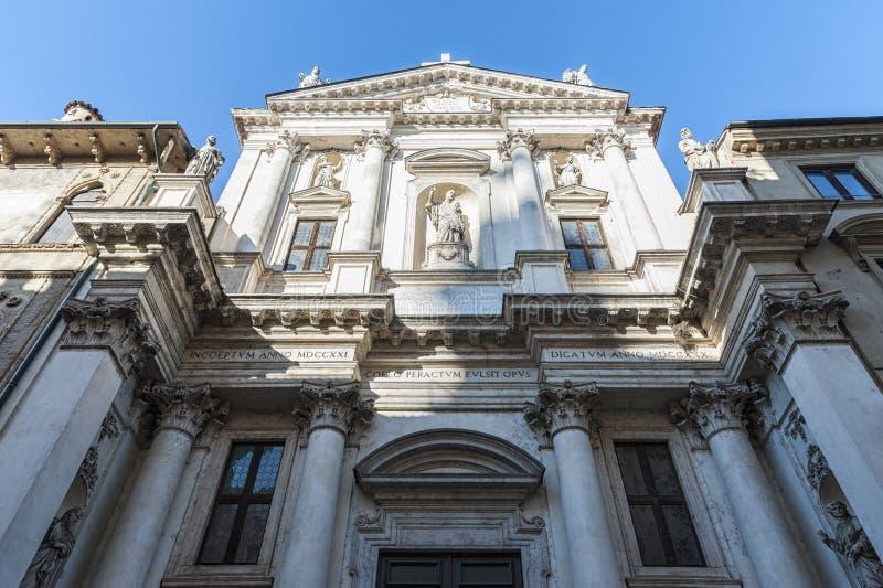 Die Kirche von San Gaetano Thiene, nannte auch das Teatini, ist ein religiöses Gebäude, gelegen in Vicenza entlang Corso Palladio lizenzfreie stockfotos