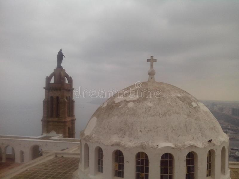 Die Kirche von Santa Cruz lizenzfreies stockbild