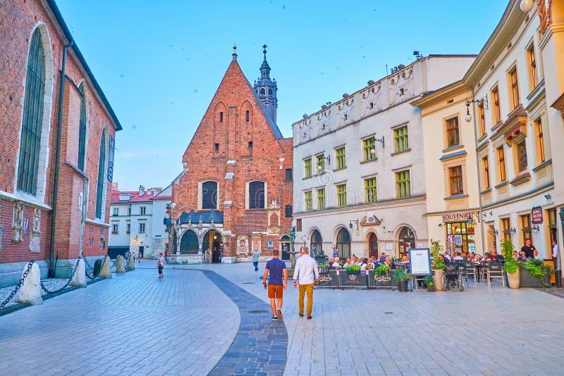 Die Kirche von St. Barbara in Krakau, Polen stockbild