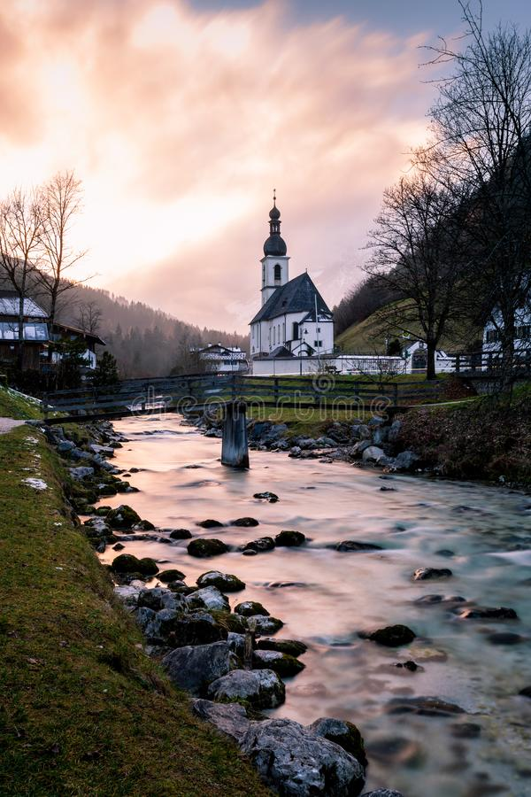 Die Kirche von St. bei Berchtesgaden Sebastians, Ramsau stockbilder