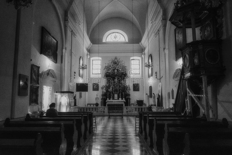 Die Kirche von St. Josef in Kahlenberg in Wien, Österreich stockfotos
