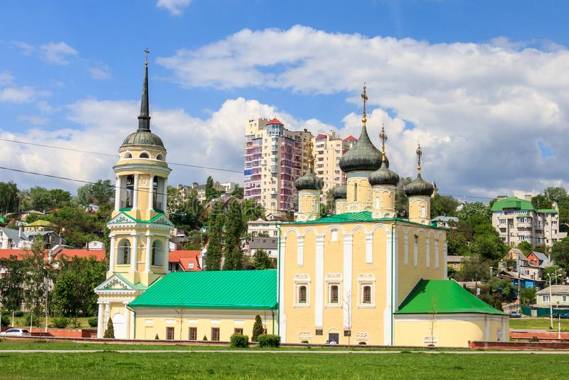 Die Kirche in Voronezh stockbilder