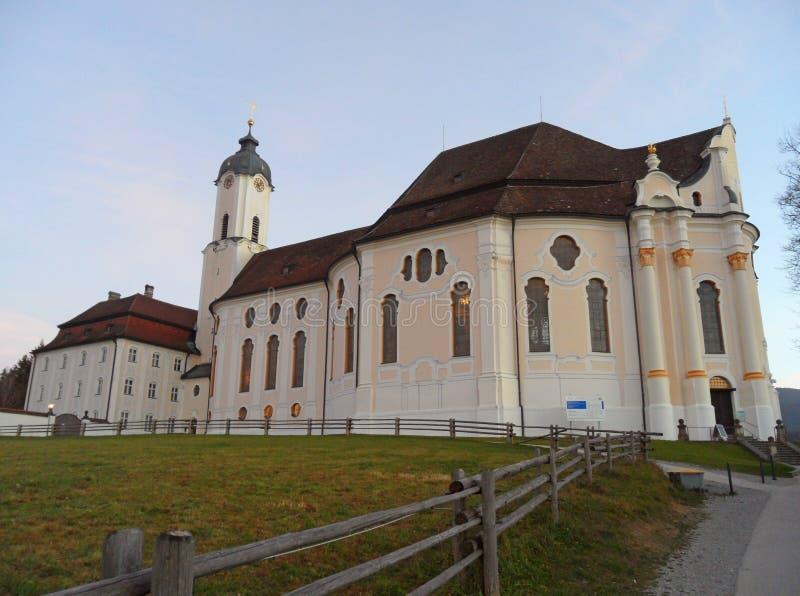 Die Kirche Wieskirche oder der Pilgerfahrt des Scourged Retters im Bayern, stockfotografie
