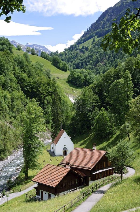 Die Klaus-Kapelle ein berühmter Schweizer Pilgerfahrterholungsort lizenzfreies stockfoto