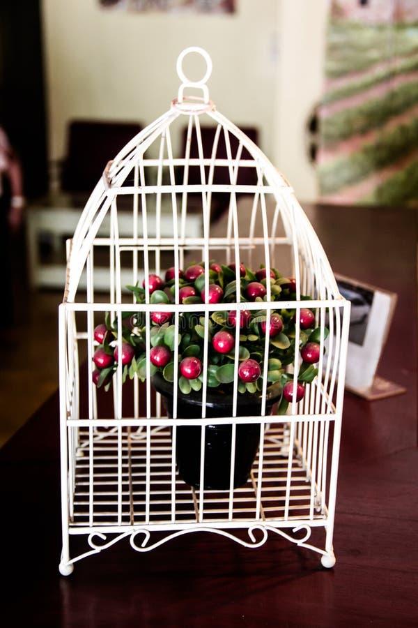 Die kleine Kirschbaumdekoration in der Hochzeitsecke ist so schön lizenzfreie stockbilder