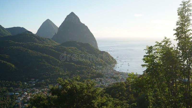 Die Kletterhaken der St. Lucia stockbilder
