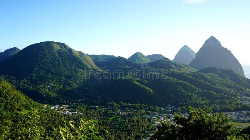 Die Kletterhaken der St. Lucia stockfotografie