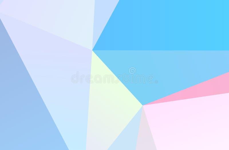 Die Kombination von farbigen geometrischen Formen Minimales Design Hellrosa, blaue Farbe lizenzfreie abbildung