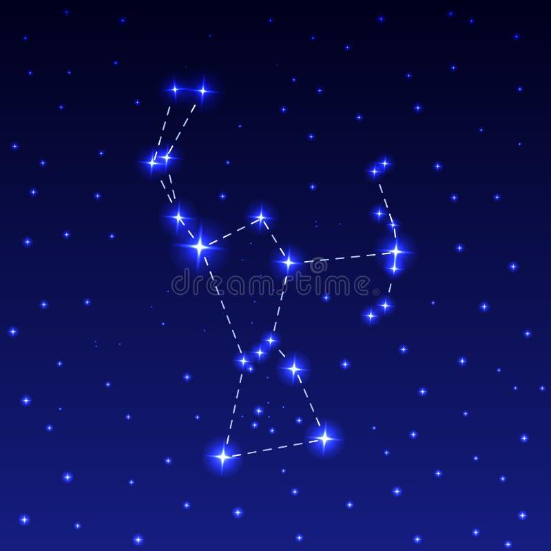 Die Konstellation von Orion lizenzfreie abbildung