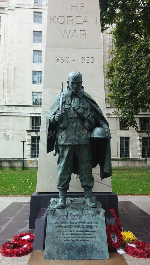 Die Koreakrieg-Statue in London lizenzfreie stockfotografie