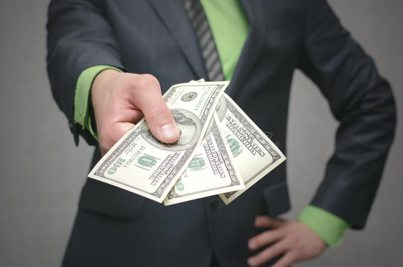 Die Korruption bestechungsgeld Finanzhilfe Darlehen von Kreditinstituten lizenzfreie stockbilder