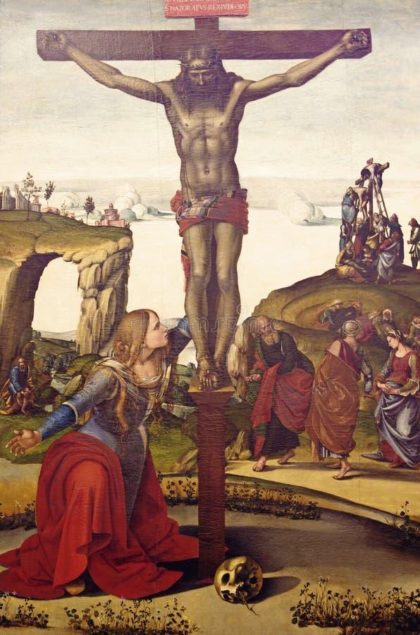 Die Kreuzigung des Jesus Christus lizenzfreies stockbild