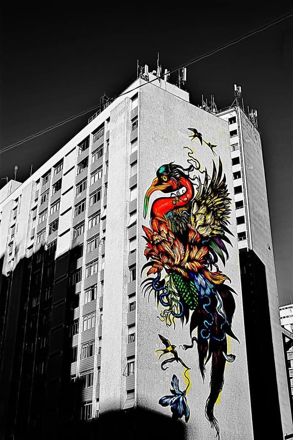 Die Kunst der Straßen Farben, die sich freuen lizenzfreies stockfoto